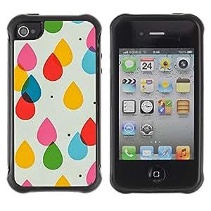Paccase / Suave TPU GEL Caso Carcasa de Protección Funda para - Drops Art Subtle Pattern - Apple Iphone 4 / 4S