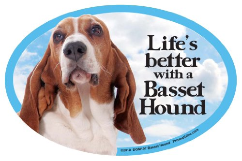 Prismatix Decal Cat and Dog Magnets, Basset Hound