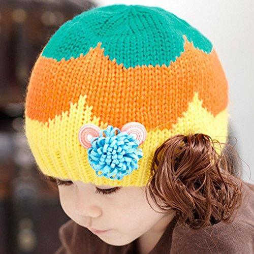 - KAKA(TM Babys Girls Boys Lovely Hat Winter Warm Knit With Cute Wig Beanie Cap
