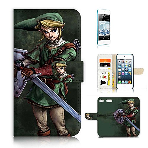 Itouch Flip Case (( For iPod Touch 6 / iTouch 6 ) Flip Wallet Case Cover & Screen Protector Bundle - A21403 Legend of Zelda)