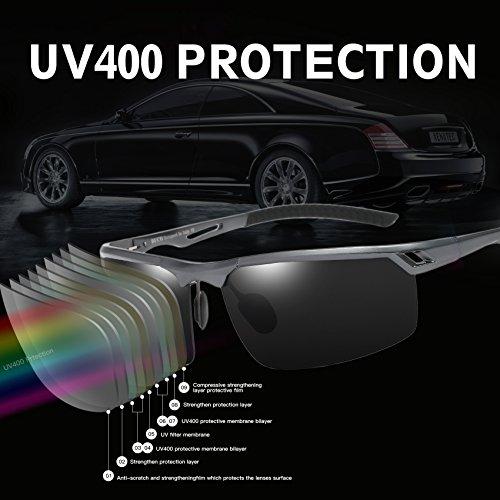 deportes de los del Gris 8550 los divierten sol de Duco de vidrios hombres las conductor gafas polarizados SgXdq