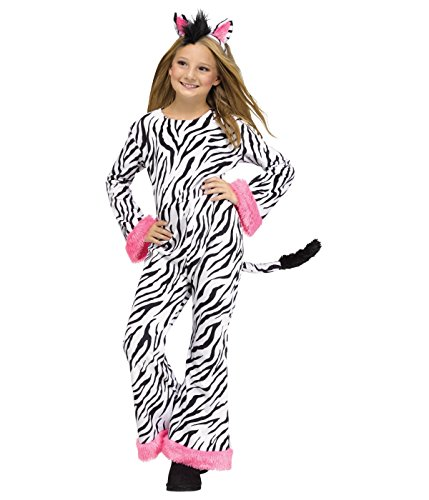 Fun World Girls Zebra Costume