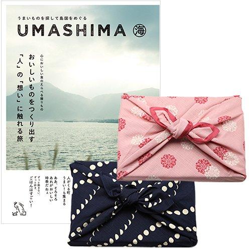 CONCENT【風呂敷包み】うましま umashima グルメ カタログギフト 海コース ※風呂敷色(紺色ひと月) B005G21X76