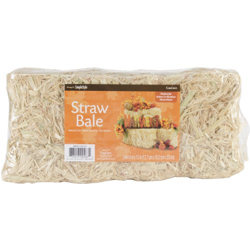 FloraCraft Decorative Straw Bale 5 Inch x 6 Inch x 13 Inch Natural -