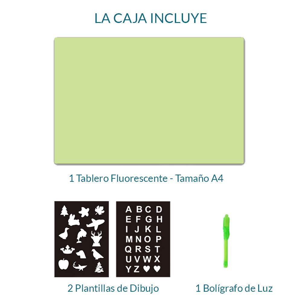 iLight - Pizarra Infantil Mágica de Dibujo con Luz Real – Juego de Pintar para Niños Niñas de 3 a 9 años que Fomenta la Creatividad - Incluye Tablero ...