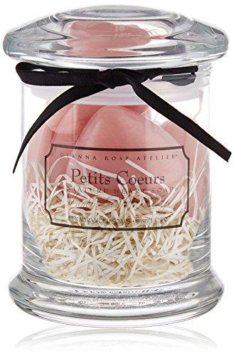 Gianna Rose Petit Coeurs Apothecary Jar, Pink, 25 oz.