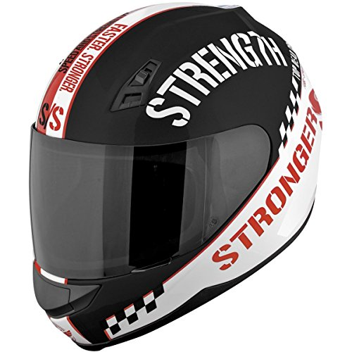 Speed and Strength Top Dead Center Full Face SS700 Motorcycle Helmet (Gloss Red, XX-Large)