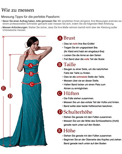 Erosebridal Brautjungferkleid Halbe Kleid Blumen Hochzeit Hülsen Rot z1xAzn