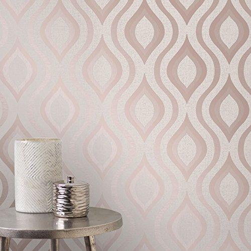 Quartz Geometric Wallpaper Rose Gold Fine Decor FD42206 by Fine Decor (Image #1)
