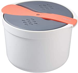 Microwave Rice Cooker, Rice and Pasta Cookware, BPA Free, Easy-To-Use, It is an Indispensable Tool for Busy Chefs