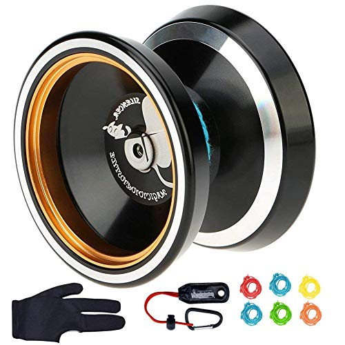 MAGICYOYO Silencer M001-B Yo-yo Ball Aluminum6061 Unresponsive Yo-yo with Stainless Center Bearing and Stainless Axle (M001B Black)