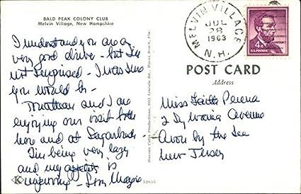Amazon.com: Bald Peak Colony Club Melvin Village, New Hampshire Original Vintage Postcard: Entertainment Collectibles
