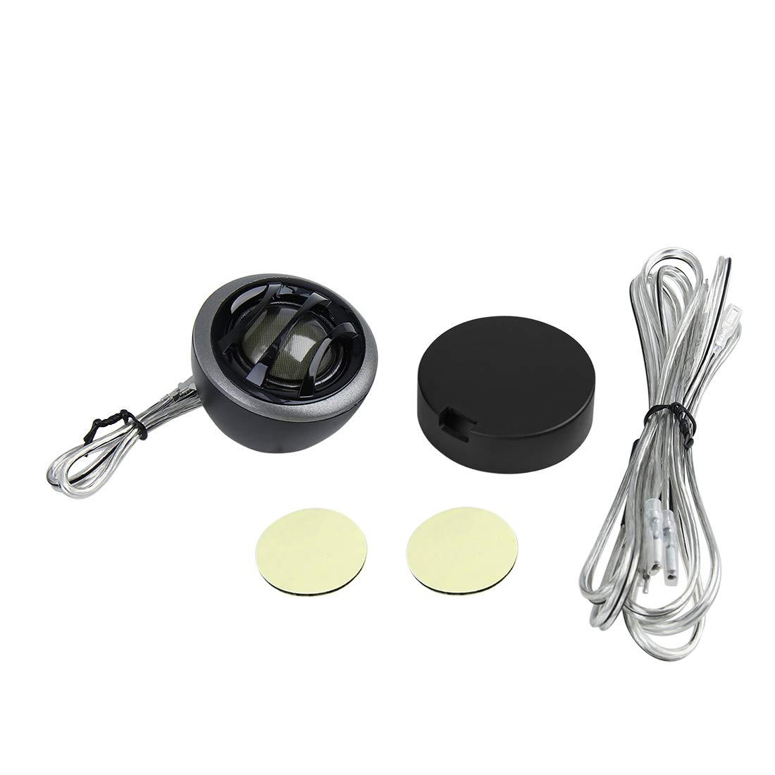 uxcell/® Universal Black Dome Car Audio Tweeter Loudspeaker 89.5dB-92.5dB Set DC 6V-36V