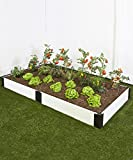 Frame It All 4ft x 8ft White Raised Garden Kit