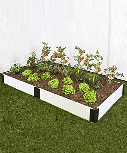 Frame It All 4ft x 8ft White Raised Garden Kit
