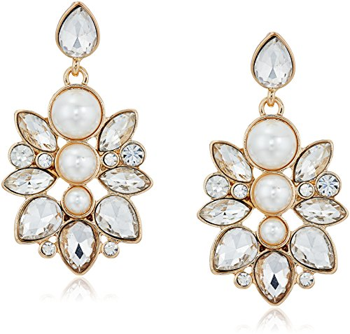 Guess Pearl (GUESS Statement Cluster Drop Earrings)