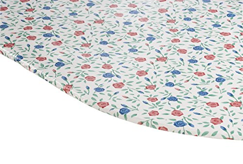 Miles Kimball Buds 'n Blooms Vinyl Elasticized Table Cover