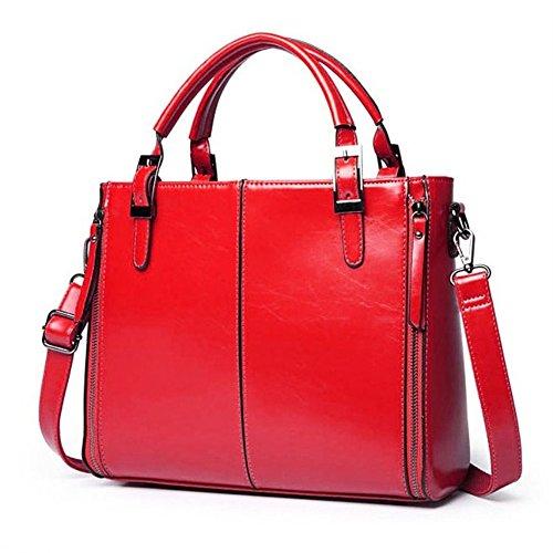 Leather GWQGZ Wax Bolsa Lady'S Hombro Nuevo Y Aceite Bolso Simple Generoso Gules Gules De ggBqRTp