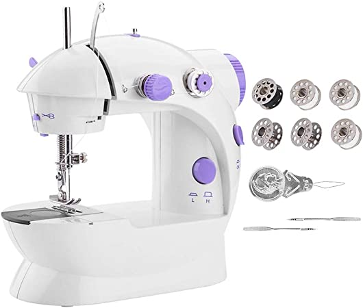 Gelentea Mini máquina de coser portátil, máquina automática para ...