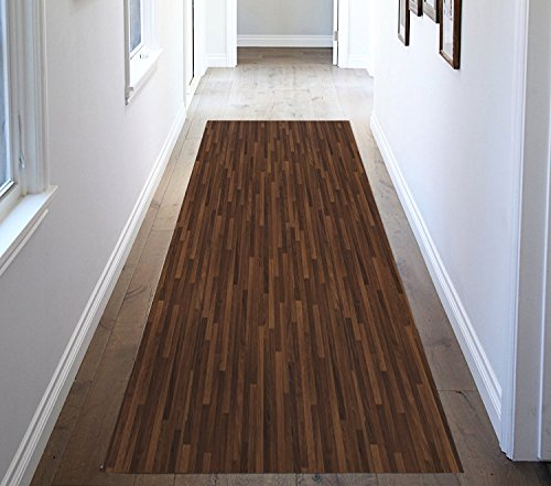 ChasBete Non-Slip Kitchen Floor Mat Slip Resistant Home Hallway Bathroom Runner Indoor Carpet Outside Door Rug Thin Cushioned Waterproof Heavy Duty Sticker(Wood Grain) by ChasBete (Image #3)