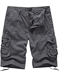 Men's 12 Inch Loose Fit Multi-Pocket Cargo Short