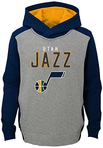 NBA Kids & Youth Boys 'Fadeaway' Pullover Hoodie Utah Jazz-Grey Heather-L(14-16)