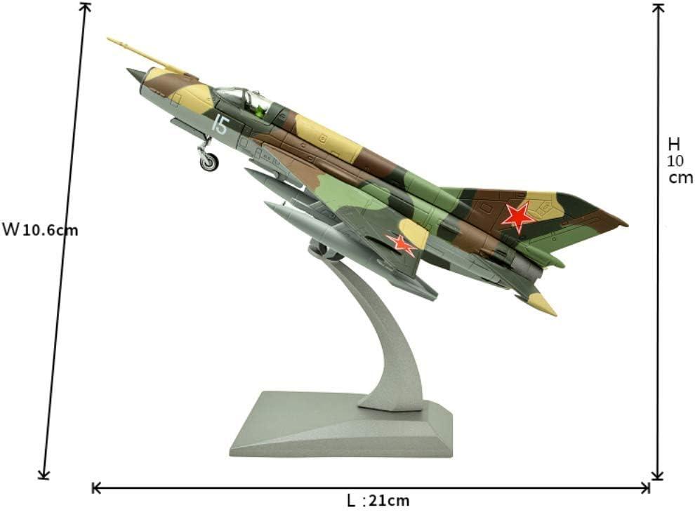 NUOLANDE 1//72 Diecast Model Plane Scale Model Soviet Air Force MIG-21 Fighter Model Alloy Airplane Model con Carrello di atterraggio