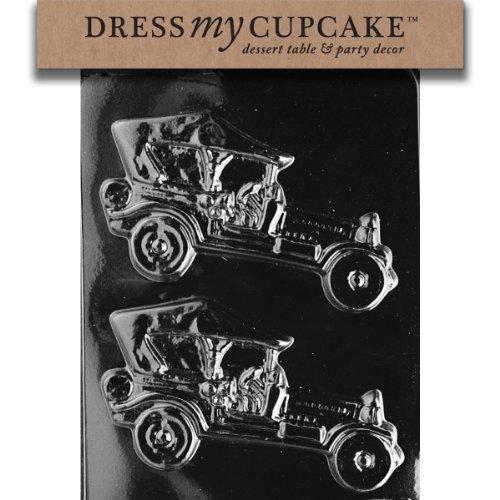 Dress My Cupcake DMCD013 Chocolate Candy Mold, Antique Cars