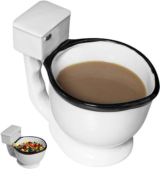White Elephant Cup Bowl Gag Novelty Party Gift Toilet Poop Coffee Tea Mug