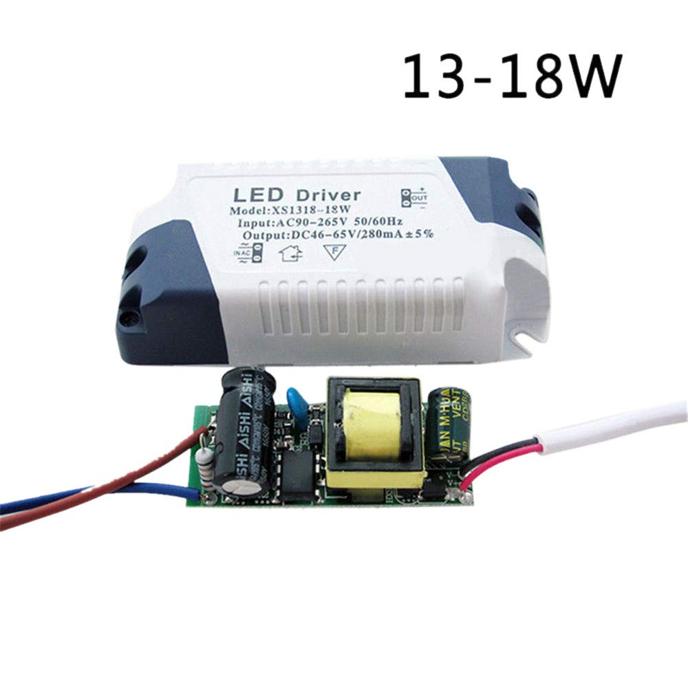 LED Driver DIY 3W-24W Dimmable Ceilling Light Lamp Transformer Power Supply (13-18W, 1 Pack)