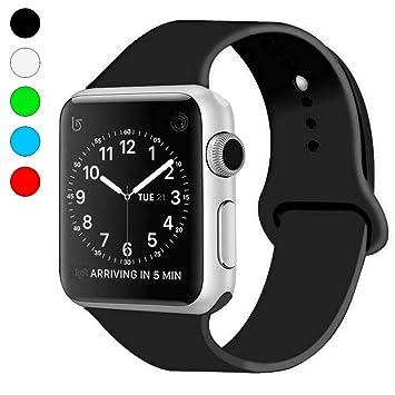 AIGUOCompatible con iWatch Bracelet, Banda de Reloj Deportivo de Silicona de reemplazo Suave para iWatch Series 4, Series 3, Series 2, Series ...