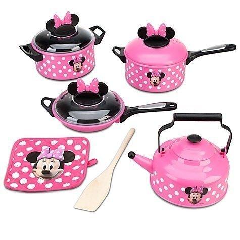 Disney Store Minnie Mouse Kitchen Play Set Pots n Pans Cooking Set Kitchen by Disney (Image #1)
