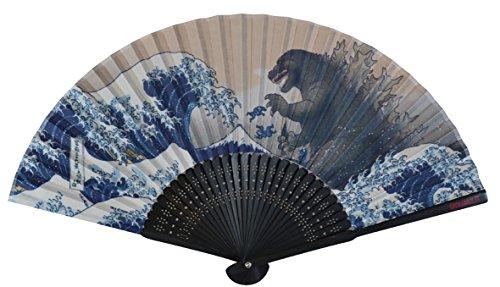 Godzilla Great Wave Kanagawa Sensu(folding Fan) Folcart 8510 (Japanese Sensu Fan)