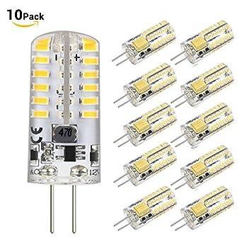 blinngo G4 LED bombilla 10 unidades bi-pin LED luz bombilla 48 x 3014 SMD