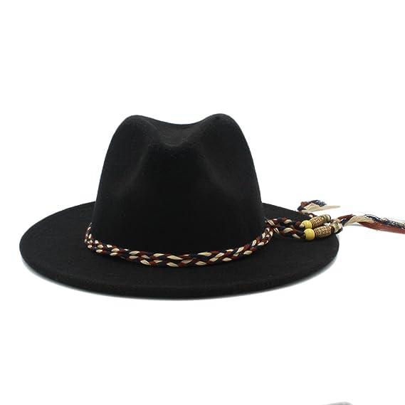 Best Choise Cappelli Fedora da Donna in Lana Invernale Cappelli Ampi da  Uomo Cappellini Panama Feltr Hat Jazz Sombrero da Donna da Uomo per Multi  Occasioni ... 4f75b6274b05