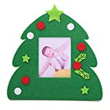 Bluelans Christmas Decorations, Hanging Non-Woven Photo Frame Christmas Ornament Party Decoration with Support Xmas Gifts Xmas Stocking Fillers