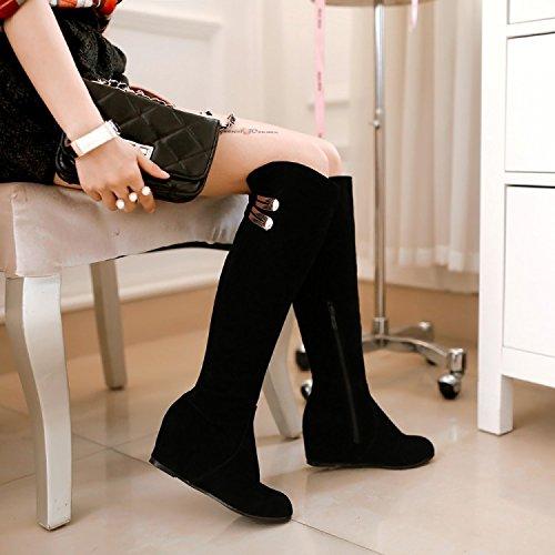 ... YCMDM Cavaliere Stivali Nero di alta qualità opaca L'Alto Stivali Donne  nuovo di modo ...