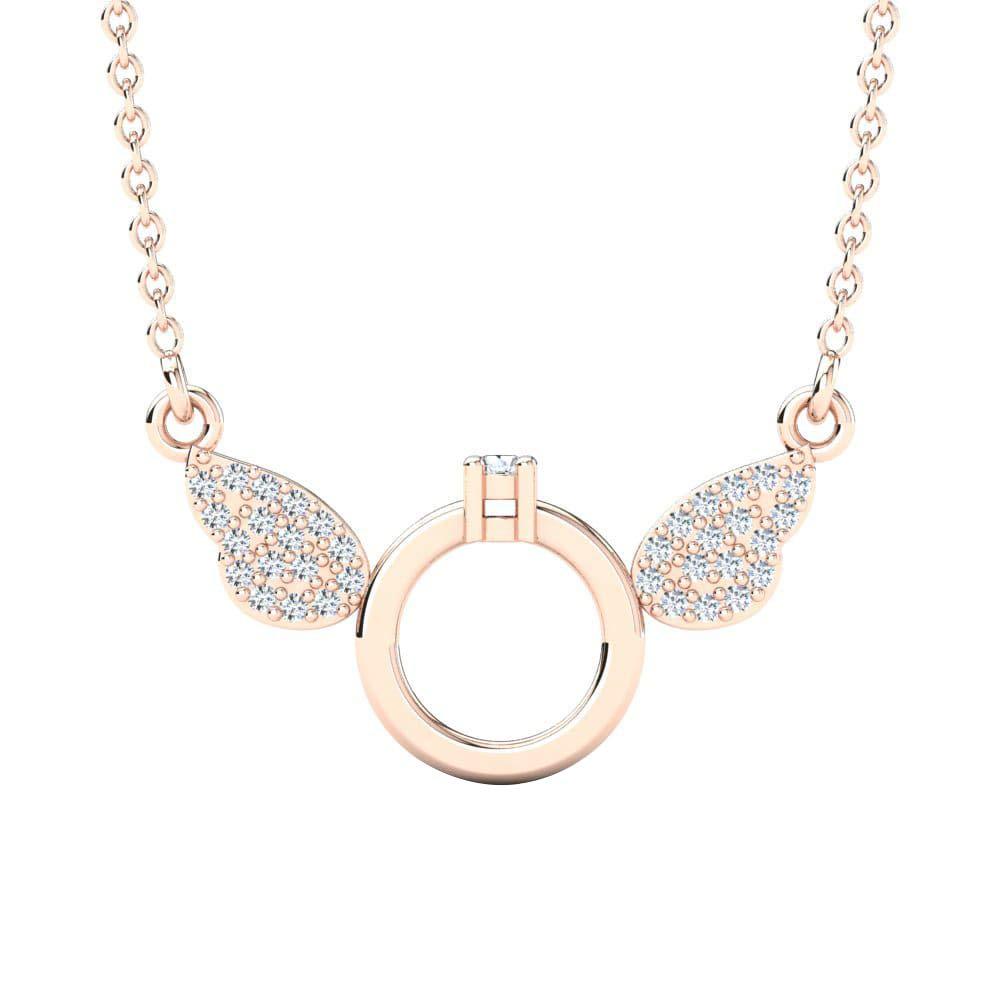 Ringjewels 14K Gold Plated .925 Silver 0.03 Cts D//VVS1 Diamonds Yanisyarvi Pendant W//18 Chain Necklace