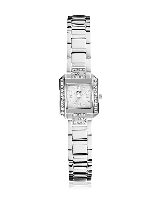 Guess Analog Silver Dial Women's Watch - W0306L1 Watches at amazon