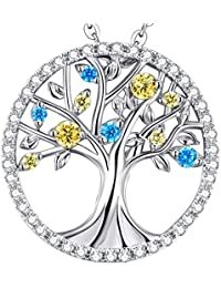 Christmas Gift Tree of Life Necklace November Birthstone...