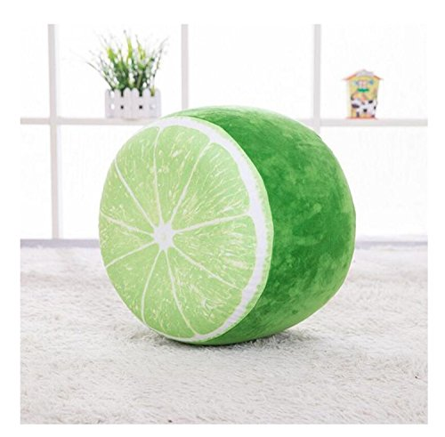 (Fruit cartoon Plush inflatable seat seat sofa thickened folding stool gifts for children (lemon))
