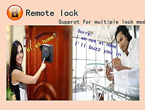 [Wifi Video Doorbell] Anysun® Rainproof Touch Key Wireless Wifi Video Visual Door Phone Doorbell Intercom System Home Security for Iphone Samsung ...