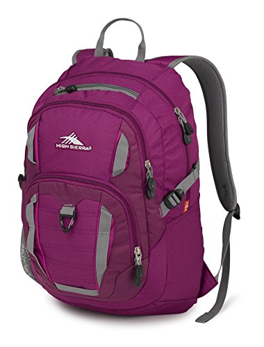 High Sierra Ryler Backpack, Berry Blast/Razzmatazz/Charcoal,