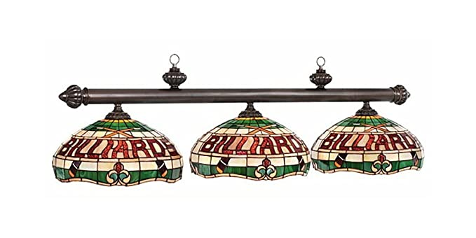Tres lámpara de Vidriera con luz de billar: Amazon.es: Iluminación