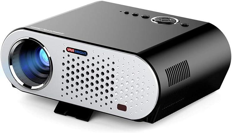 Inicio proyector Smart, LED proyector de vídeo, 1080P WiFi Proyector inalámbrico para Cine en casa Oficina Entretenimiento Game Party: Amazon.es: Hogar