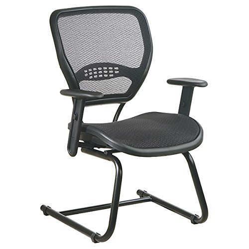 Space Professional Guest Chair with Air Grid Mesh Back & Seat by Office Star