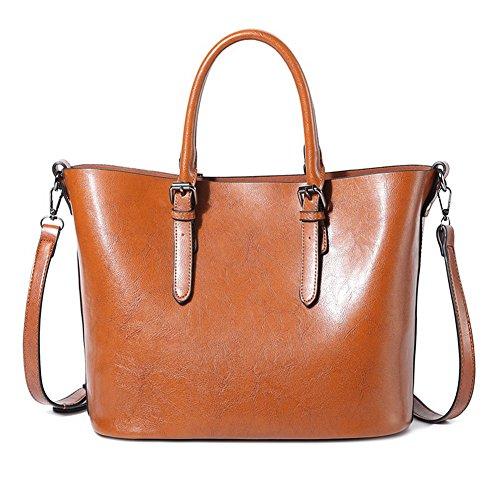 Aalardom Dacron Buckle Fashion Women's Shopping Bags Shoulder Cross Bag Brown