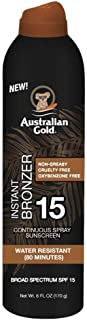 product image for Australian Gold Continuous Spf#15 Spray 6 Ounce With Bronzer (177ml) (2 Pack)