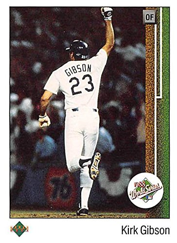 Kirk Gibson baseball card (Los Angeles Dodgers) 1989 Upper Deck #666 1988 World Series Home Run