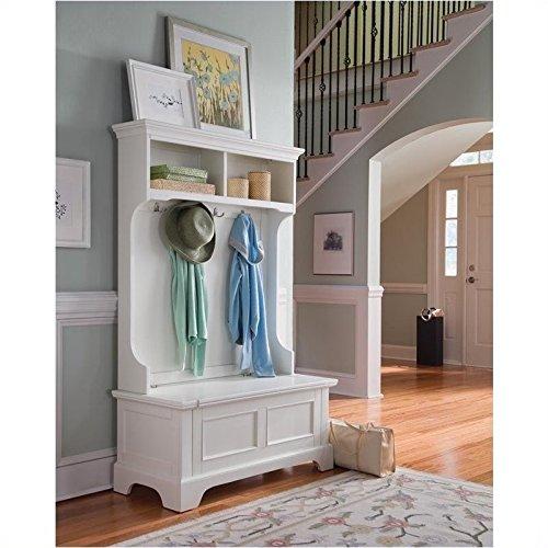 Home Styles 5530-49 Naples Hall Tree, White Finish